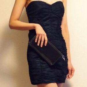 Zara Black Strapless Evening Formal Dress